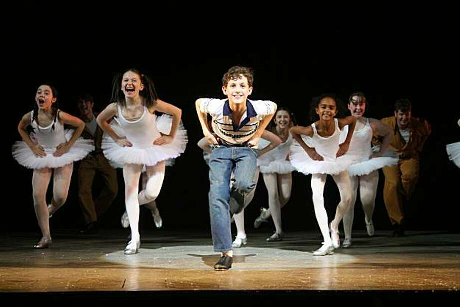 "Trent Kowalik and the Ballet Girls in the Broadway production of ""Billy Elliot"" Photo: Alastair Muir"