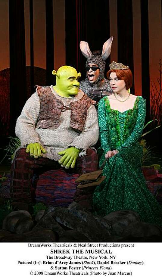 "The Bridgeport Theatre Company's production of ""Shrek the Musical"" opens at the Downtown Cabaret Theatre on Friday. Find out more.  Photo: Joan Marcus"