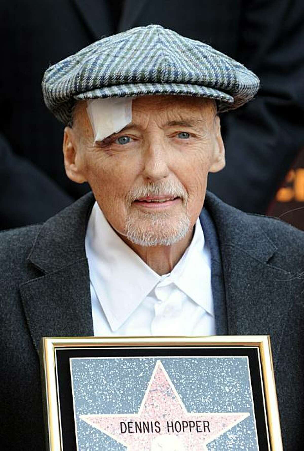 Actor Dennis Hopper is honored with the 2,403rd Star on the Hollywood Walk of Fame on March 26, 2010 in Hollywood, California. Hopper, 74, died of complications from prostate cancer at his home on May 29, 2010 in Venice, California.