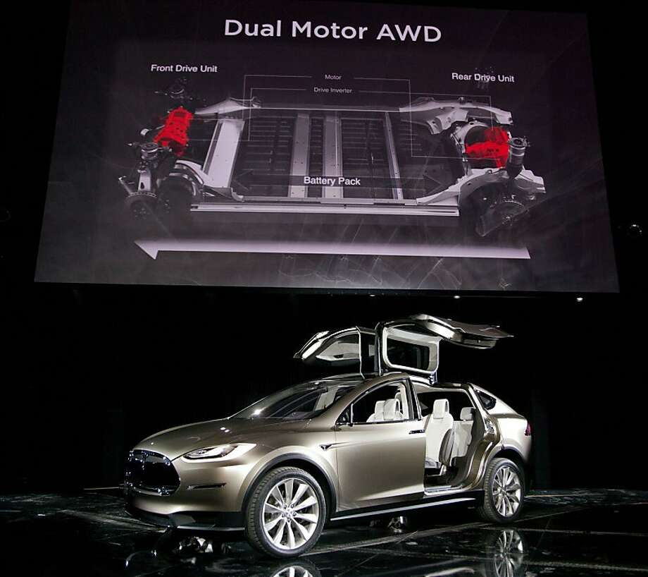 Tesla Motors has just begun taking reservations for its new Model X SUV. Deliveries are scheduled to begin late next year. Photo: Tim Rue, Bloomberg