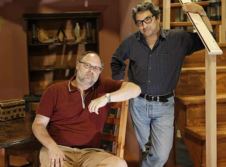 Cal Shakes artistic director Jonathan Moscone, left, and playwright Octavio Solis shown here during a break in rehearsal on Tuesday, May 11, 2010, in Berkeley, Calif. Photo: Carlos Avila Gonzalez, The Chronicle