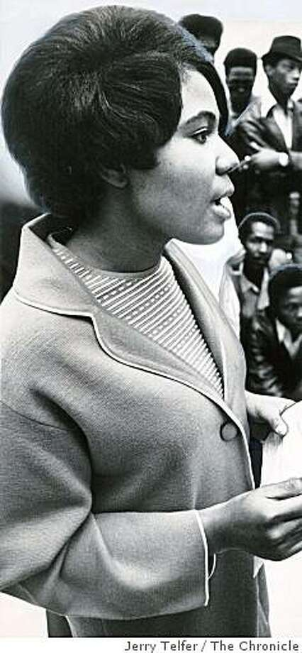 April 8, 1968 - Johnnie Marie Ross was sent to Atlanta to attend Dr. Martin Luther King's funeral in 1968. Photo: Jerry Telfer, The Chronicle