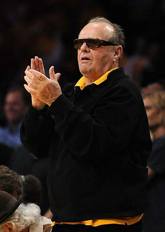 Actor Jack Nicholson watches the Los Angeles Lakers play the Phoenix Suns in Game 1 of the NBA basketball Western Conference finals, Monday, May 17, 2010, in Los Angeles. The Lakers won 128-107. Photo: Mark J. Terrill, AP