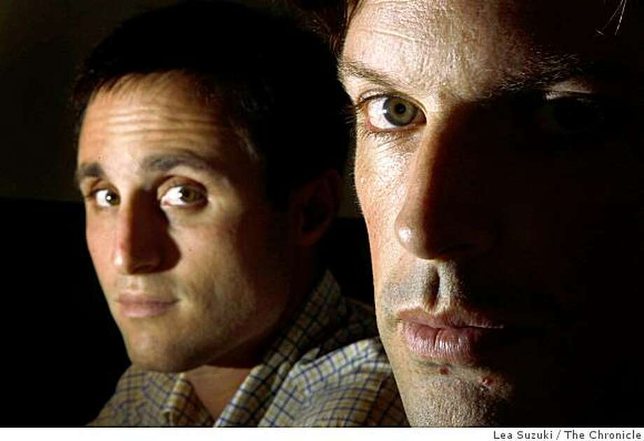 Garrett Krueger (l to r) and Alan Bernier, co-founders of Rofo, photographed at their Rofo office on Wednesday, October 29, 2008 in San Francisco, Calif. Photo: Lea Suzuki, The Chronicle