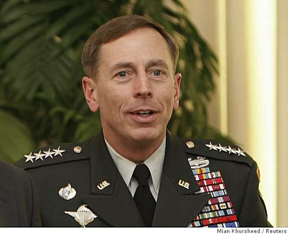 General David Petraeus, the U.S. commander running the wars in Iraq and Afghanistan, smiles in Islamabad November 3, 2008. Petraeus held talks on Monday with Pakistani leaders who told him to stop U.S. strikes on militants in Pakistani territory.  REUTERS/Mian Khursheed    (PAKISTAN) Photo: Mian Khursheed, Reuters