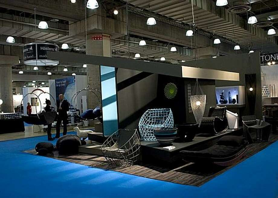 Amaridian's ICFF booth, where Wotro and Sansa, new chairs by Mali-born Cheick Diallo were on display. Photo: Amaridian