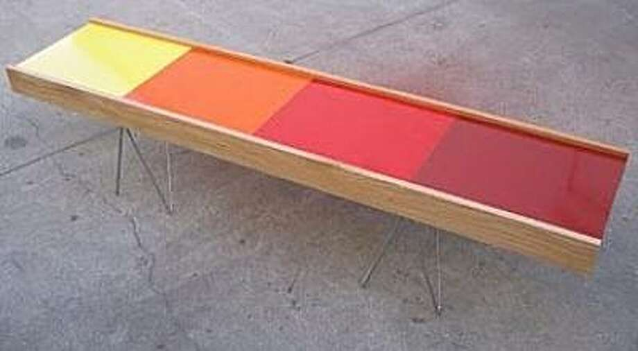 Orange palette coffee table by Thomas Wold,  available at poppy(shop). Photo: Poppy(shop)