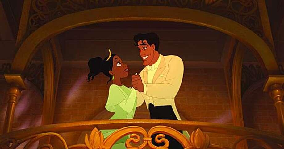 THE PRINCESS AND THE FROG (L-R) Princess Tiana, Prince Naveen Photo: Disney Enterprises, Inc.