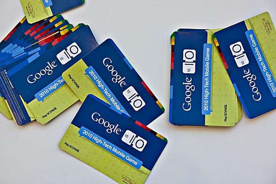 Information cards sit on display during the Google I/O Developers' Conference in San Francisco, California, U.S., on Thursday, May 20, 2010. The U.S. Federal Trade Commission unanimously approved Google Inc.'s $750 million acquisition of AdMob Inc., saying the purchase won't reduce competition in the fledgling market for advertising on mobile devices. Photographer: Kim White/Bloomberg Photo: Kim White, Bloomberg