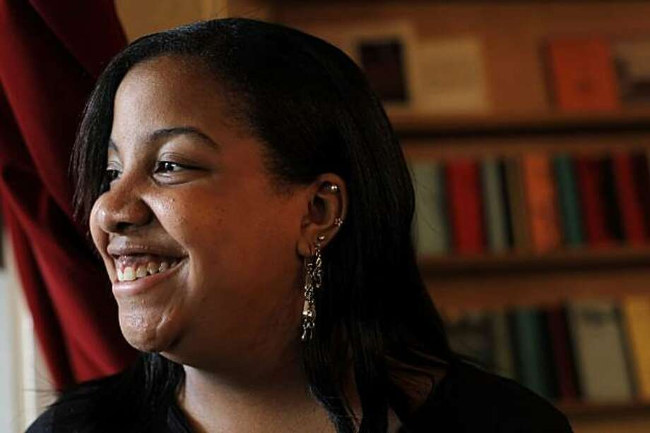 Dorrian Lewis, 18, is taking part in Dave Eggers' new website, Scholarmatch.org. Eggers launched the new web site to match high school students with scholarship donors. She is seen here on Monday, May 10, 2010. Photo: Carlos Avila Gonzalez, The Chronicle