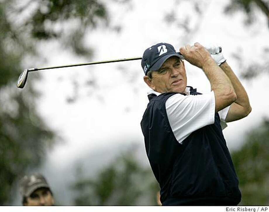 Nick Price follows his shot from the third tee of Sonoma Golf Club during the second round of the Charles Schwab Cup Championship golf tournament in Sonoma, Calif., Friday, Oct. 31, 2008. (AP Photo/Eric Risberg) Photo: Eric Risberg, AP