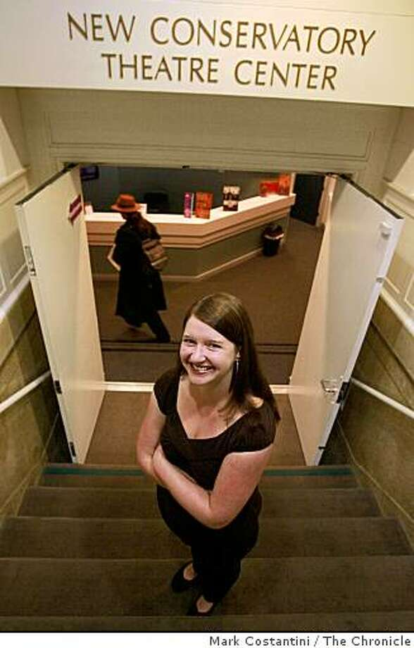Jefferson Award Winner Sarah Staley poses at the New Conservatory Theatre Center in  San Francisco, Calif. on Wednesday, September 10, 2008. Photo: Mark Costantini, The Chronicle