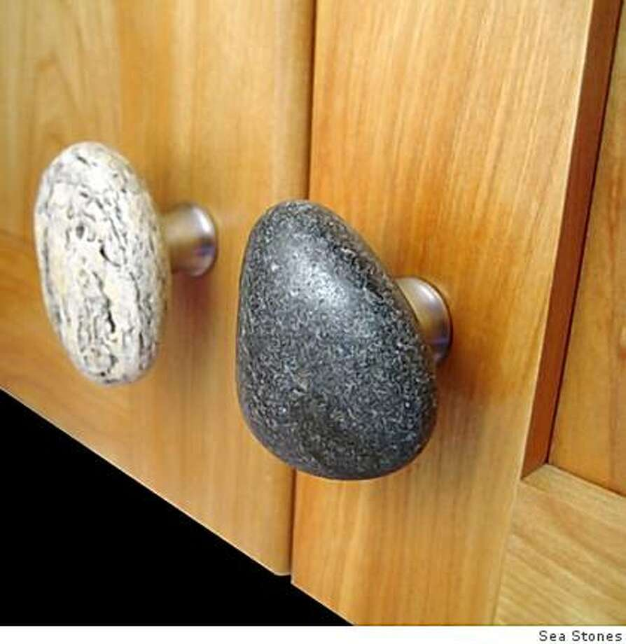 Sea Stones cabinet knobs Photo: Sea Stones
