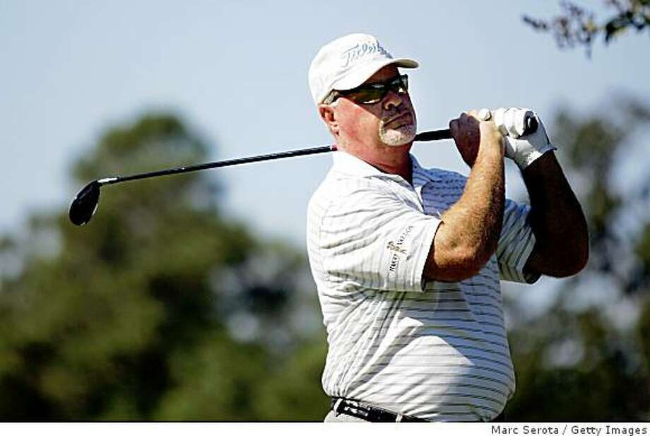 WOODLANDS, TX - OCTOBER 19:  Tim Simpson tees off on the second hole during the final round of the Administaff Small Business Classic at the Woodlands Country Club on October 19, 2008 in Woodlands, Texas. (photo by Marc Serota/ Getty Images) Photo: Marc Serota, Getty Images