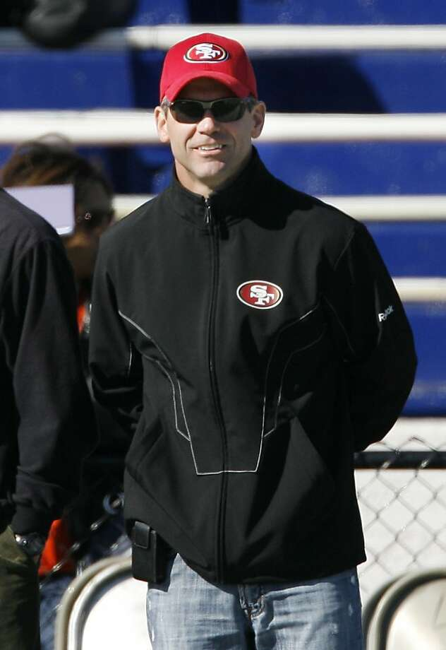 San Francisco 49ers GM Trent Baalke looks on from the side line DOPduring the North's Senior Bowl practice Wednesday January 26, 2011 at Ladd-Peebles Stadium in Mobile, Al. Photo: Chip English, Special To The Chronicle