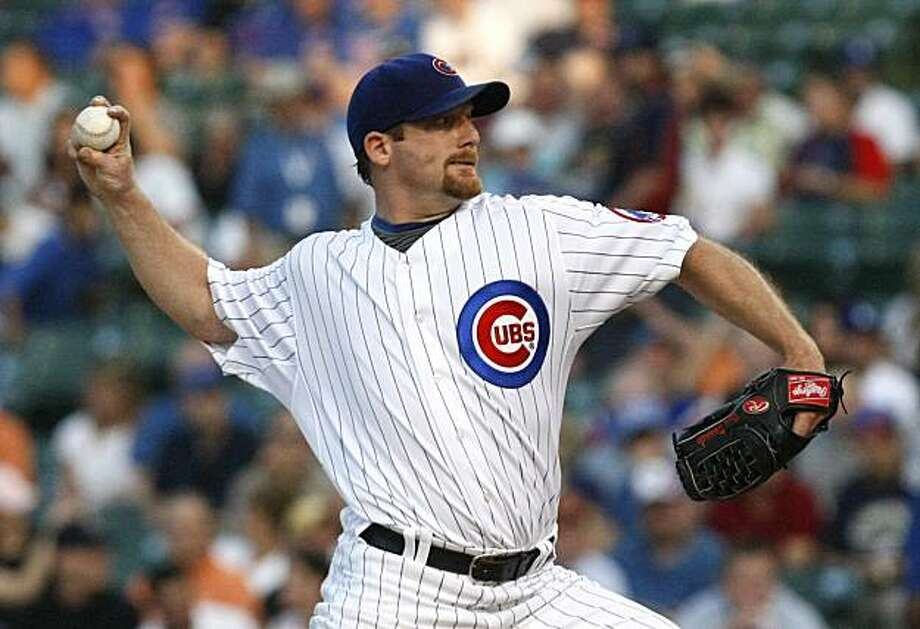 Chicago Cubs starting pitcher Ryan Dempster delivers during the first inning of a baseball game against the Los Angeles Dodgers on Tuesday, May 25, 2010, at Wrigley Field in Chicago. Photo: Charles Rex Arbogast, AP