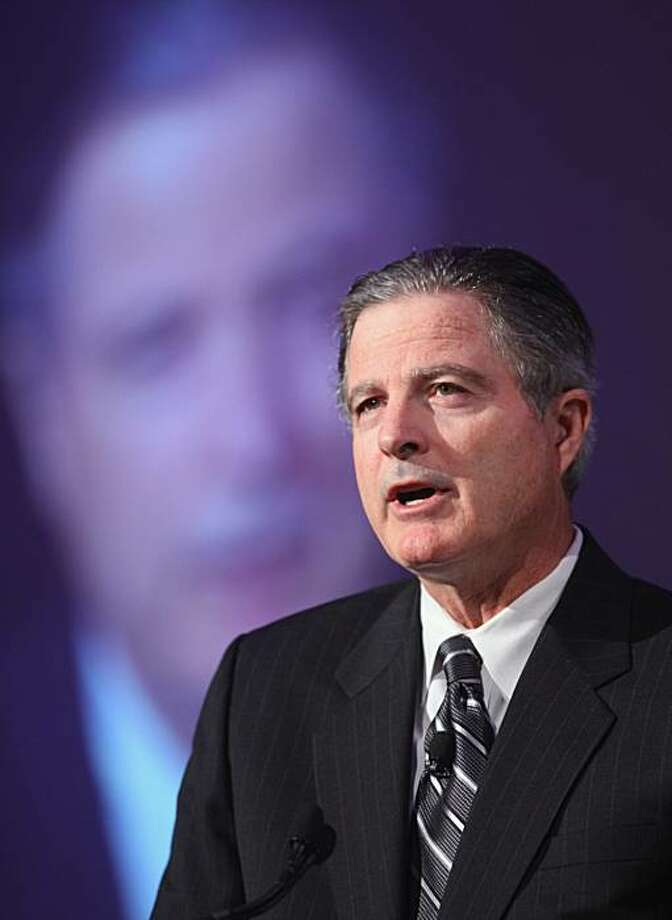 John S. Watson, chairman and chief executive officer of Chevron Corp., speaks during the U.S.-Saudi Business Opportunities Forum in Chicago, Illinois, U.S., on Wednesday, April 28, 2010. Saudi Arabia will spend $107 billion over five years for oil investments, the country's oil minister said at the forum. The kingdom will expand fields and upgrade refineries and it will focus on technology that allows it to capture the full value of oil extraction. Photographer: Tim Boyle/Bloomberg *** John S. Watson Photo: Tim Boyle, Bloomberg