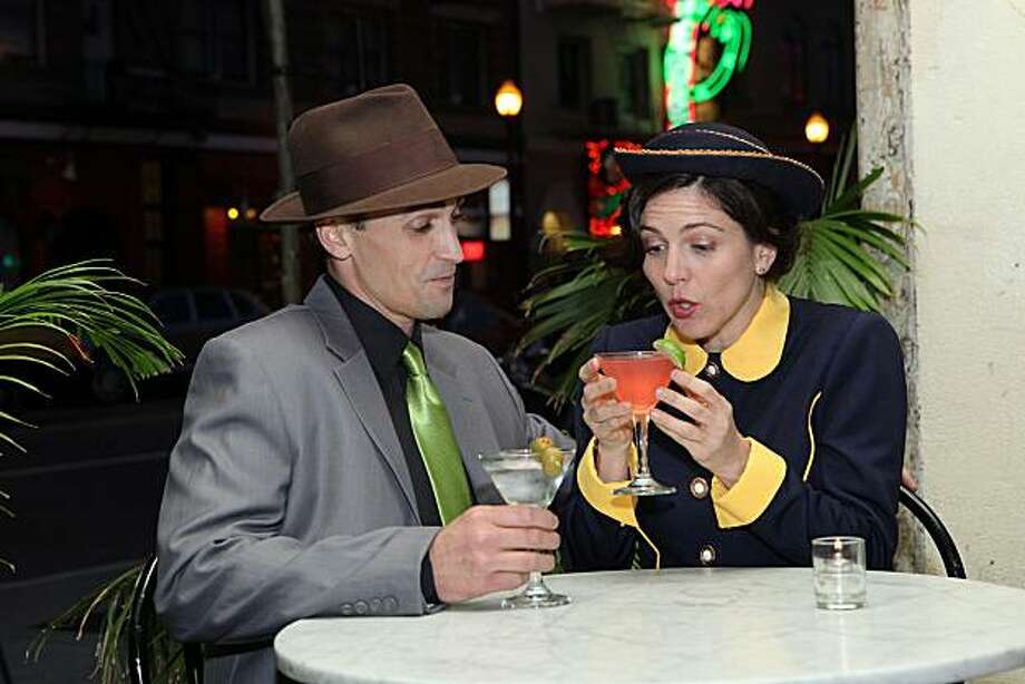 """Sky Masterson (Tyler McKenna) and Sister Sarah Brown (Susan Zelinsky) in """"Guys and Dolls,"""" being presented by the Mountain Play May 23-June 20 at Cushing Memorial Amphitheatre off Highway 1 in Marin County (801 Panoramic Highway, Mill Valley) Photo: Ed Smith"""