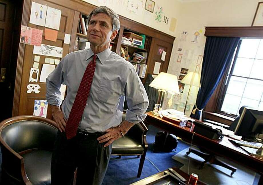 WASHINGTON - MAY 19:  U.S. Rep. Joe Sestak (D-PA) speaks with members of his staff in his office on Capitol Hill, May 19, 2010 in Washington, DC. Rep. Sestak defeated Senator Arlen Specter (D-PA) in yesterday's primary and became Pennsylvania's Democratic candidate for the mid-term Senate election. Photo: Mark Wilson, Getty Images