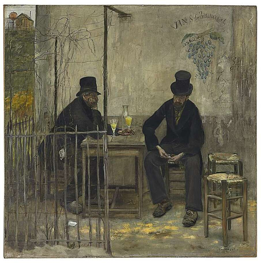 """The Absinthe Drinkers"" (1881) oil on canvas by Jean-Francois Raffaelli Photo: Handout, Fine Arts Museums Of S.F."