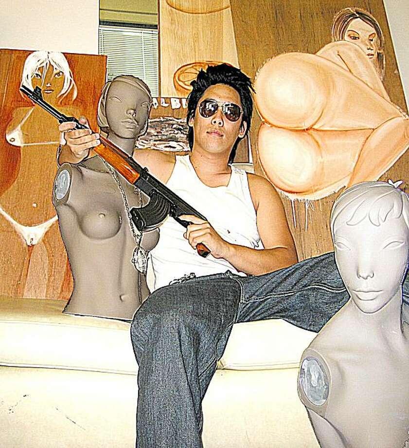 David Choe with art