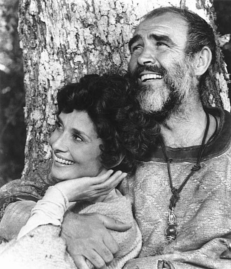 "In this 1975 publicity photo originally released by Columbia Pictures, Sean Connery, right and Audrey Hepburn portray Robin Hood and Maid Marian in a scene from, ""Robin and Marian."" Photo: AP"