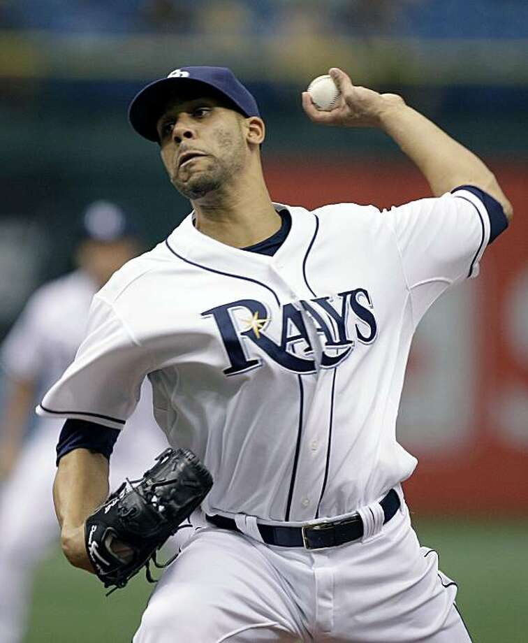Tampa Bay Rays pitcher David Price delivers to the Cleveland Indians during the first inning of a baseball game, Tuesday, May 18, 2010, in St. Petersburg, Fla. Photo: Chris O'Meara, AP