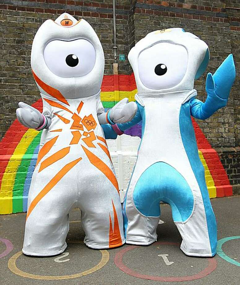LONDON, ENGLAND - MAY 19:  Wenlock, the Olympic mascot and Mandeville (Blue), the Paralympic mascot are unveiled at St Pauls Whitechapel C of E Primary School, Tower Hamlets on May 19, 2010 in London, England. Photo: Julian Finney, Getty Images