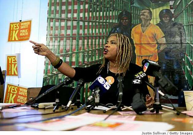 SAN FRANCISCO - OCTOBER 29:  Women's rights activist Margaret Prescod speaks during a Yes on K news conference October 29, 2008 in San Francisco, California. San Francisco ballot measure Proposition K seeks to stop enforcement of laws targeting prostitution.  (Photo by Justin Sullivan/Getty Images) Photo: Justin Sullivan, Getty Images