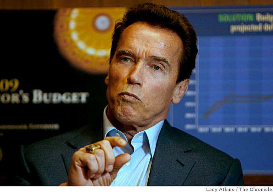 California Governor  Arnold Schwarzenegger meets with the San Francisco Editorial Board , Monday  January 28, 2008, in San Francisco, Ca.  (Lacy Atkins  San Francisco Chronicle) Photo: Lacy Atkins, The Chronicle