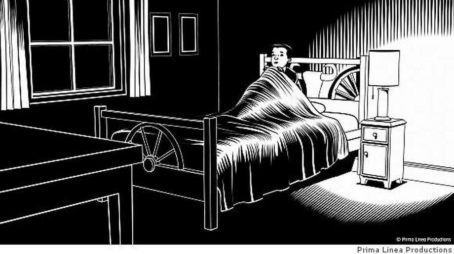 Still from Fear(s) of the Dark. Illustration by Charles Burns (c) Prima Linea ProductionsAn IFC Films release Photo: Prima Linea Productions