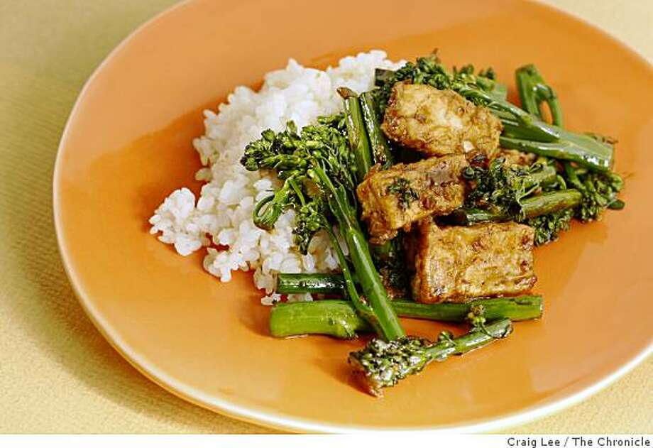 Chinese Broccoli with Tofu, in San Francisco, Calif., on October 23, 2008. Food styled by Caitlin Olmstead. Photo: Craig Lee, The Chronicle