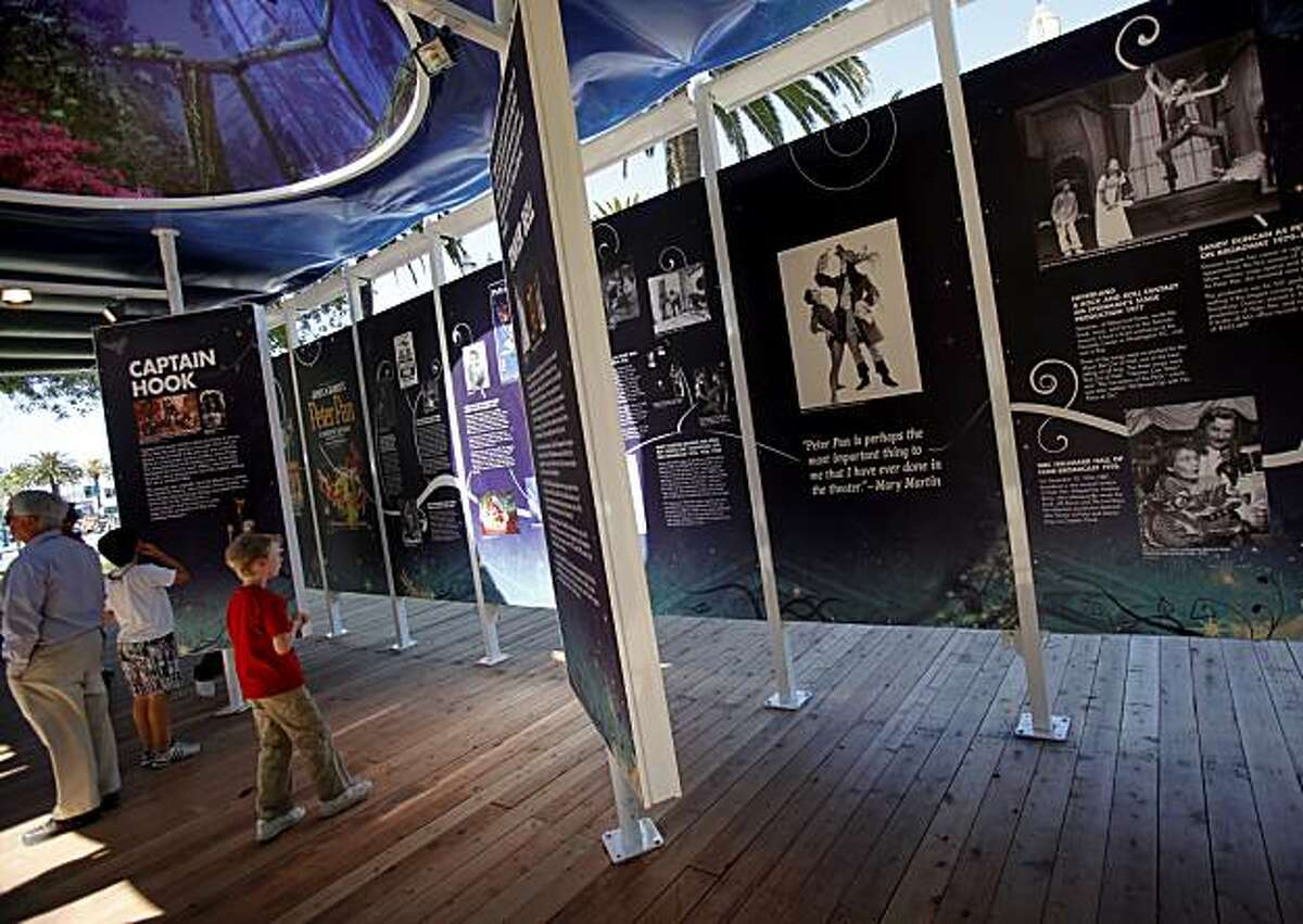 """An area near the tents with a history of the Peter Pan phenomenon is popular with families. """"Peter Pan"""" with wrap-around productions inside a 360 degree tent in San Francisco, Calif. is about to make its U.S. debut."""