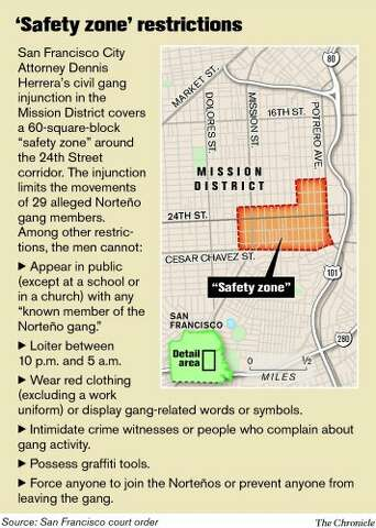 S F  gang injunction zone controversial - SFGate