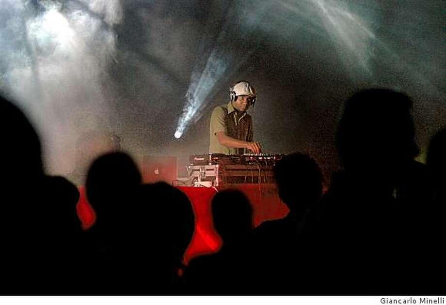 DJ Spooky performing Photo: Giancarlo Minelli