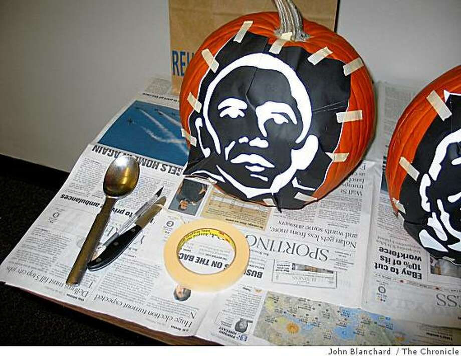 For a graphic explainer in the Sunday Datebook section. 10-26 about how to carve your own presidential candidate pumpkin.... Photo: John Blanchard / The Chronicle