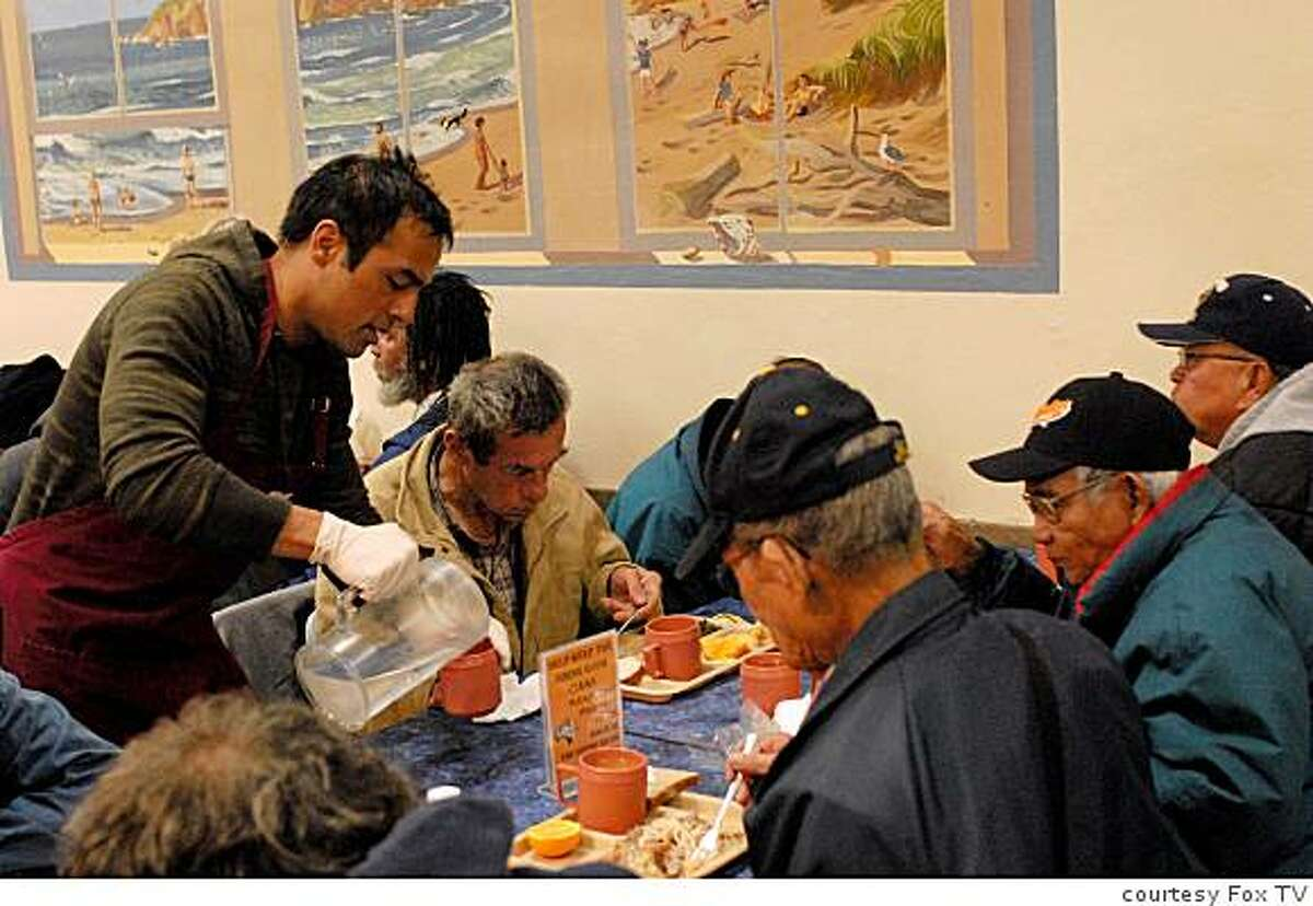 tk SECRET MILLIONAIRE: Gurbaksh Chahal volunteers at St. Anthony's shelter.�2008 Fox Broadcasting Co. Cr: Michael Yarish/FOX