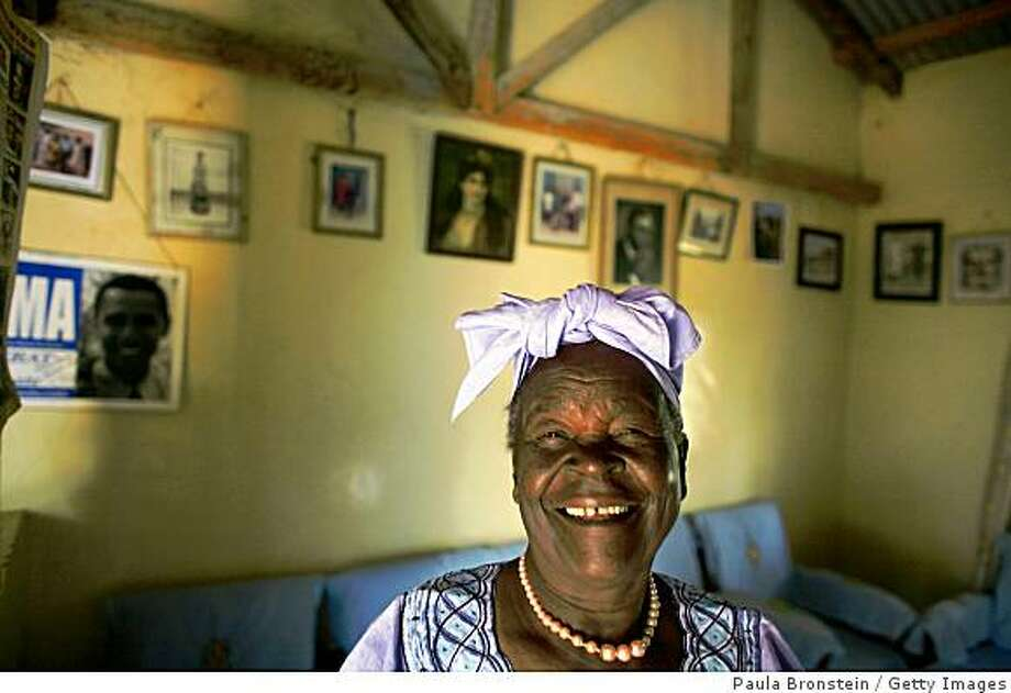 Sarah Hussein Obama, 86, the grandmother of Presidential candidate Barak Obama, poses in her home in Kogelo, Kenya. Photo: Paula Bronstein, Getty Images