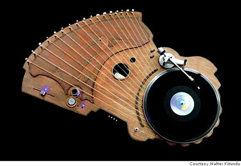 Phonograph made by the artist Walter Kitundu Photo: Courtesy The Artist, Courtesy Walter Kitundu