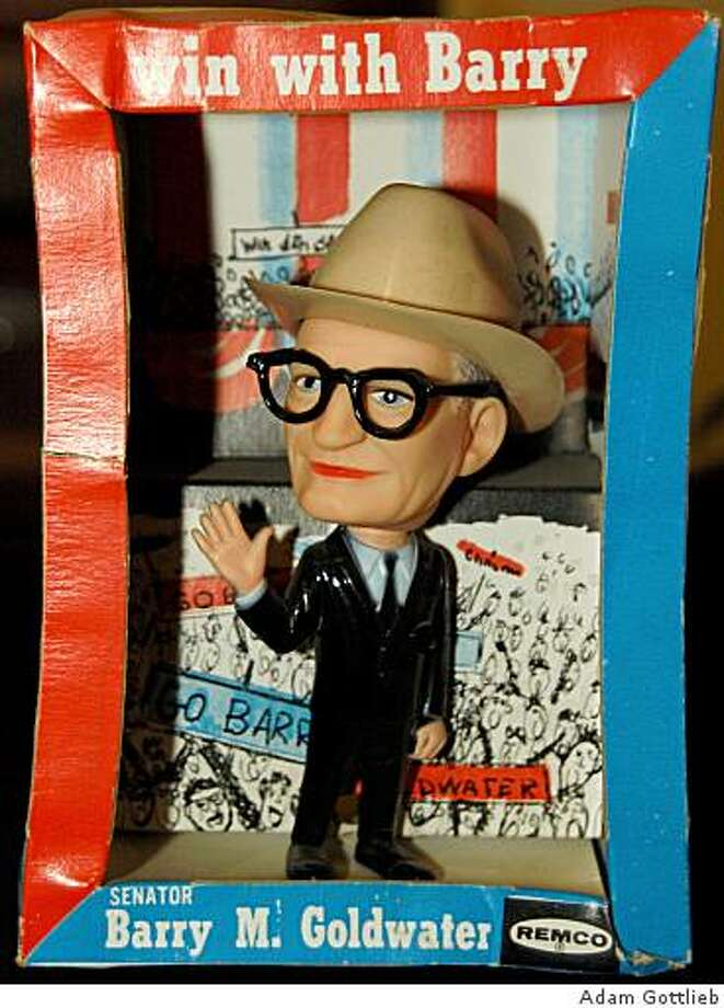 The California Historical Society presents California Presidential: Candidates and Campaigns from the Golden State.shown: GOLDWATER DOLL - Republican Barry Goldwater became immortalized as a plastic doll for the 1964 campaign.  Produced by Remco. Photo: Adam Gottlieb