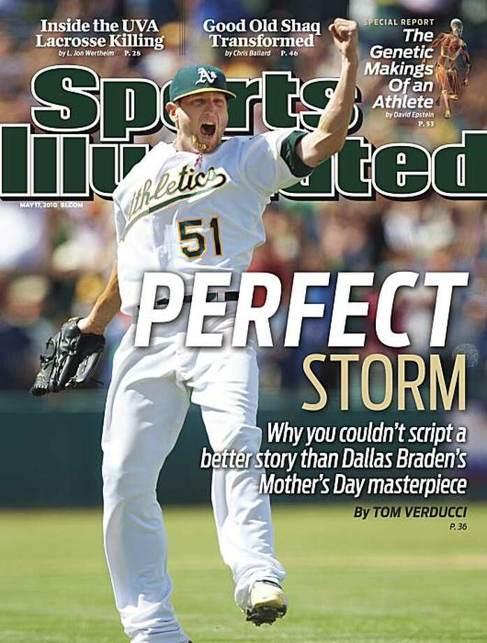 Dallas Braden on the cover of the Sports Illustrated that was released on May 12, 2010. Photo: Sports Illustrated