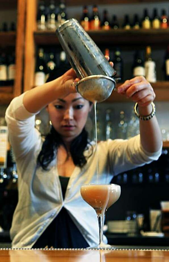 Starbelly restaurant bartender Yuka Ioroi pours a Darjeeling tea. The restaurant offers a verity of non-alcoholic drinks as well as a full bar. Thursday April 6, 2010 Photo: Lance Iversen, The Chronicle