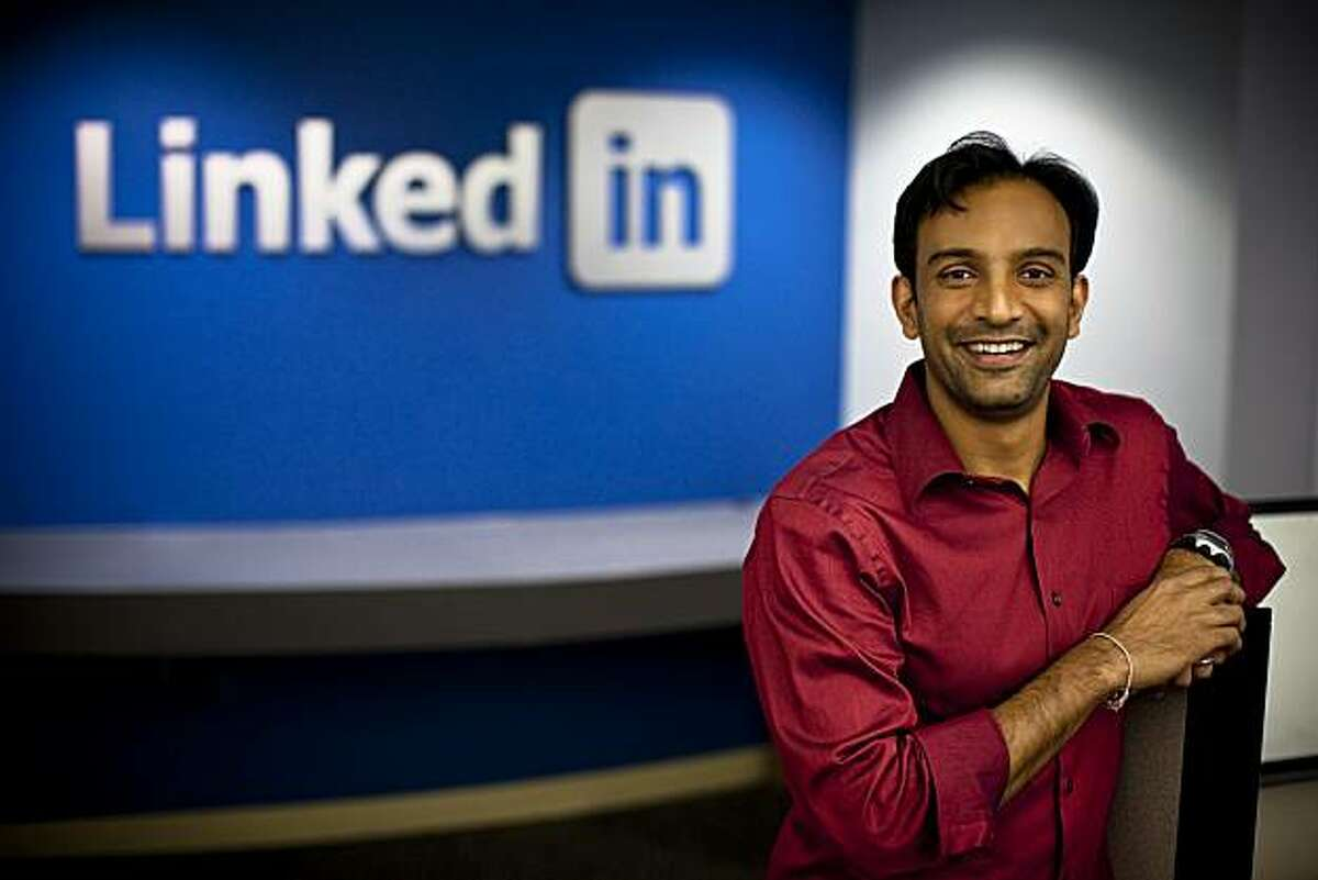 Handout photo of D.J. Patil, chief scientist and senior director of product analytics at LinkedIn Corp. shot recently at company HQ in Mountain View.