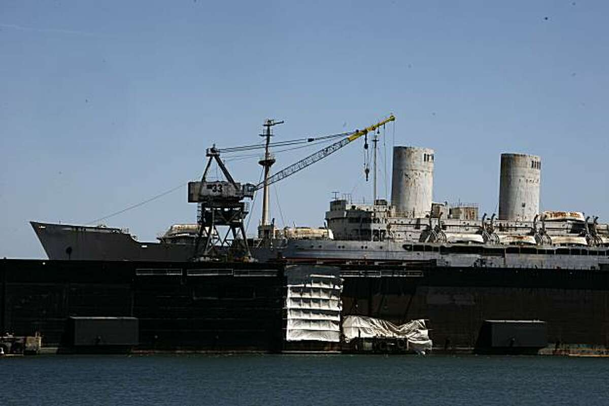 Seen is a victory ship used to transport troops on Friday, May 7, 2010 in San Francisco, Calif.