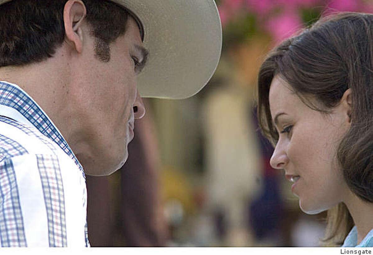 "Josh Brolin and Elizabeth Banks as George W. and Laura Bush in ""W."""