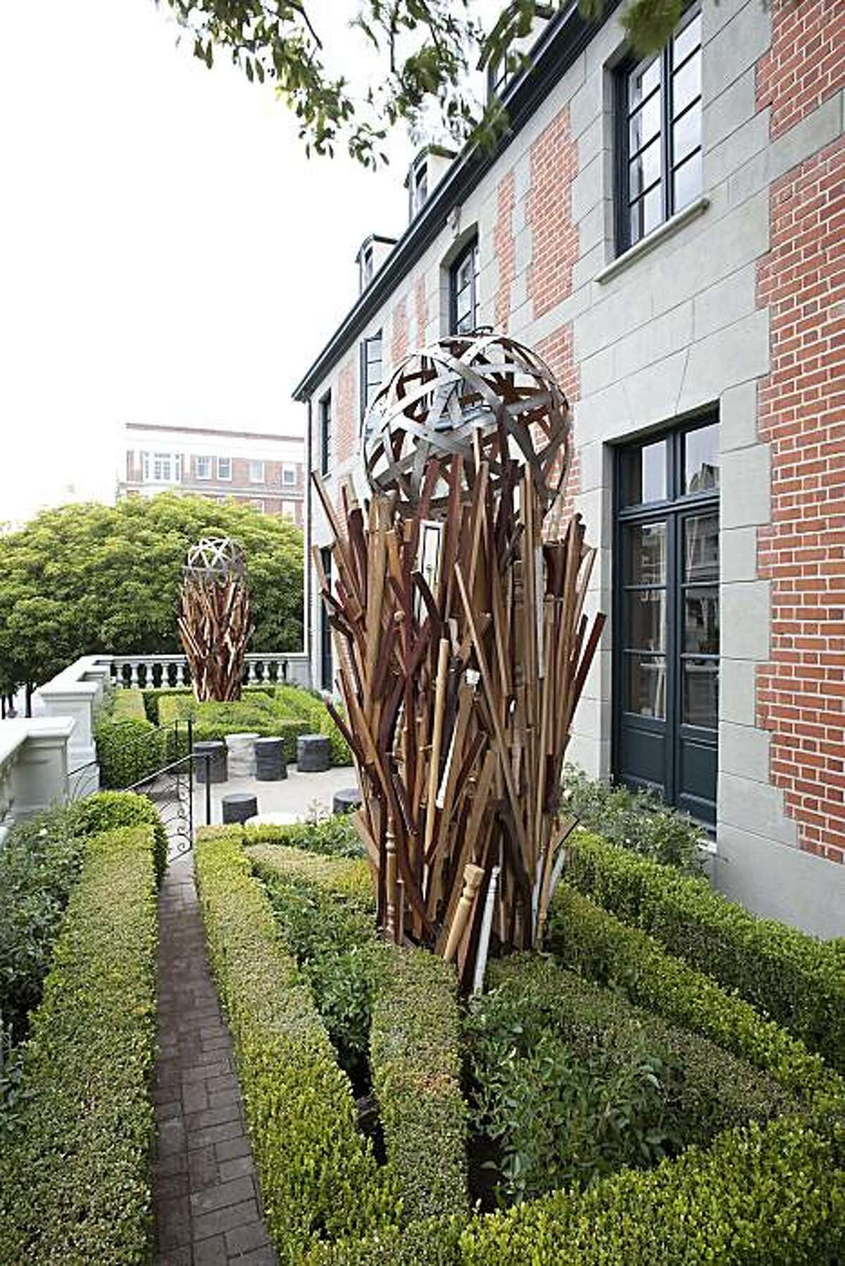 Frank Eddy's installation at the 2010 San Francisco Decorator Showcase includes wood reclaimed during the remodel.