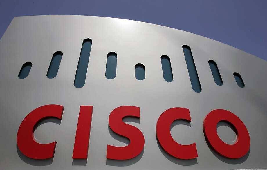 FILE - In this May 5, 2008 file photo, a Cisco sign is shown at Cisco Systems Inc. headquarters in San Jose, Calif. Cisco Systems reports fourth-quarter earnings after the market close, Wednesday, Aug. 5, 2009. (AP Photo/Paul Sakuma, file) Photo: Paul Sakuma, AP