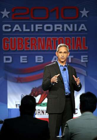 GOP gubernatorial candidates Steve Poizner speaks during a televised debate at the Tech Museum in San Jose, Calif. on Sunday, May 2, 2010. Steve Poizner and Meg Whitman squared off in their second debate as each vies to become the GOP nominee for California's governor. Photo: Jim Gensheimer, AP