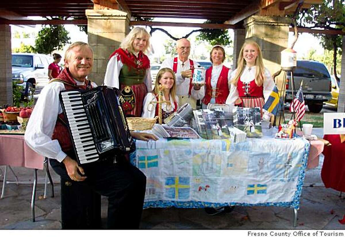Frequent festivals are an excuse for Kingsburg's Swedish American population to don traditional outfits.