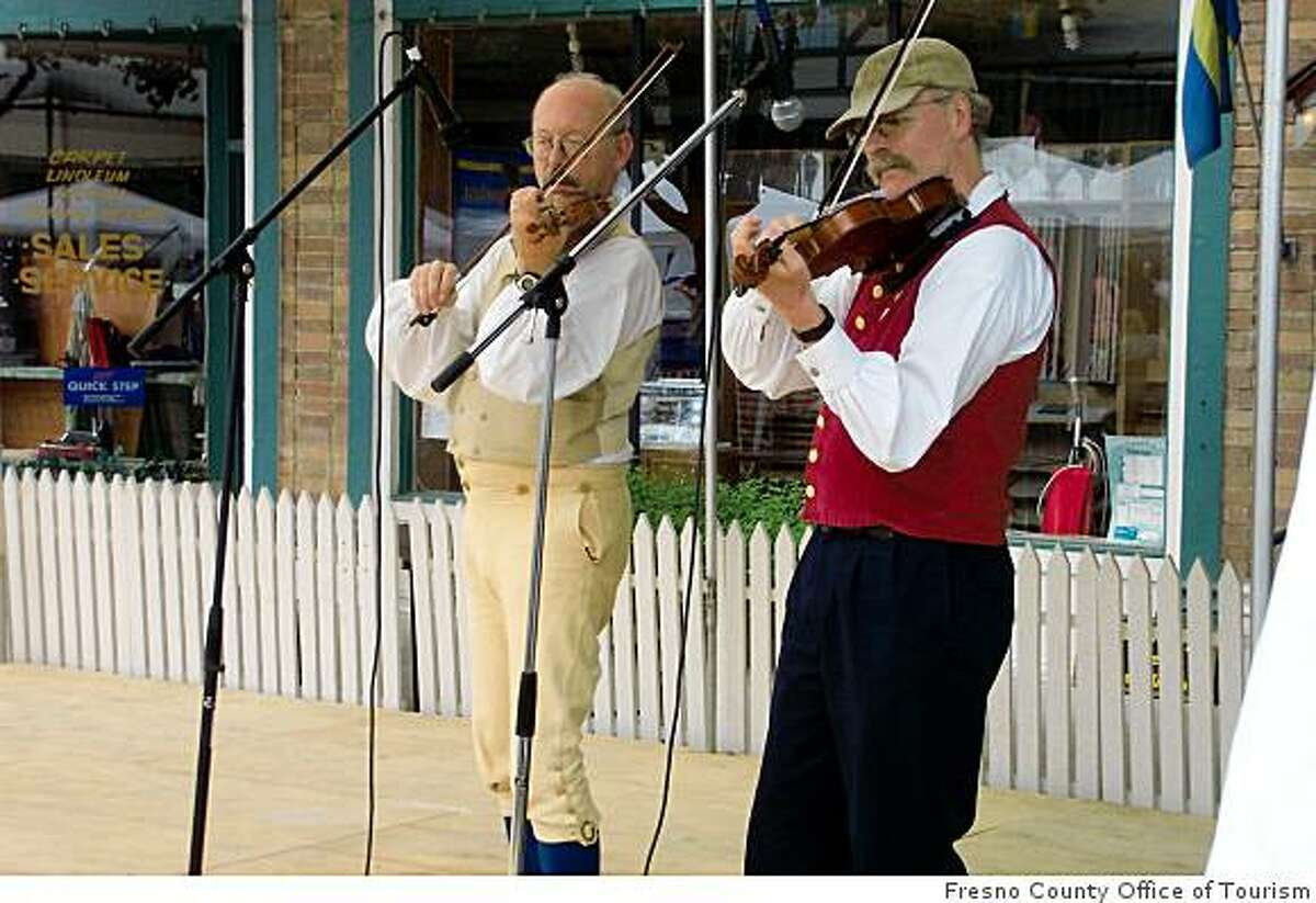 Traditional music features prominently in Kingsburg's frequent festivals.